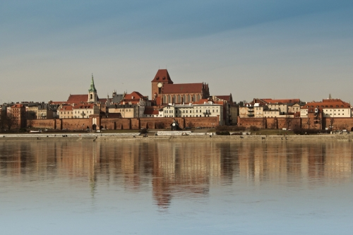Toruń, Poland old town medieval city river