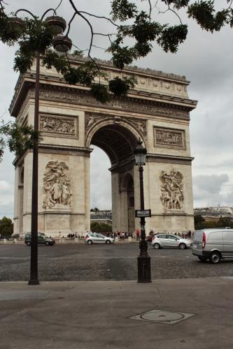 Paris city capital France Arc de triomphe